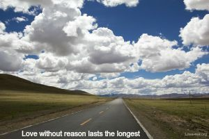 Love without reason lasts the longest quote image